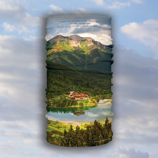 zelené pleso vysoké tatry multifunkčná šatka turistika oblečenie šport