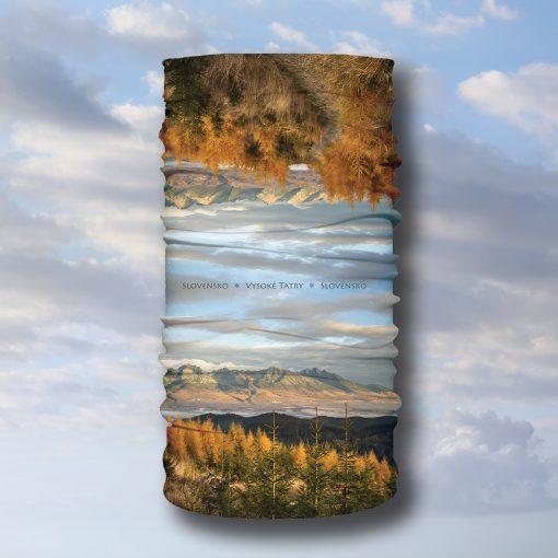 multifunkčná šatka jeseň vysoké tatry príroda turistika šport